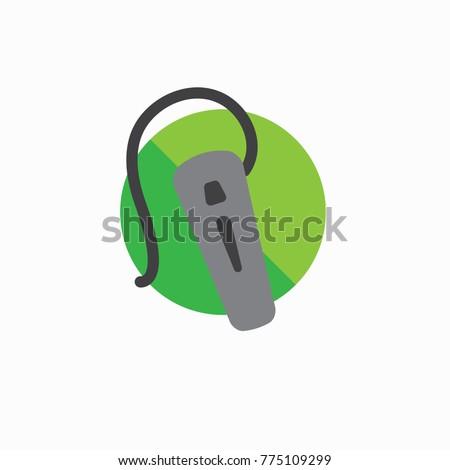 Hearing aid icon with a wraparound ear wire and ear canal piece Сток-фото ©
