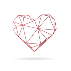 Heart abstract isolated on a white background