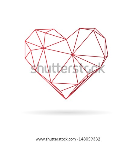 heart abstract isolated on a