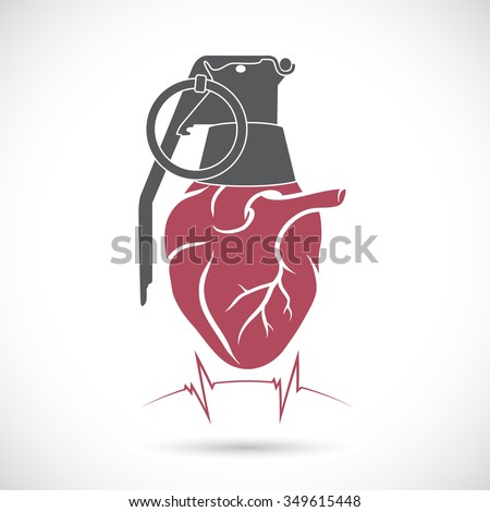 heart and a hand grenade