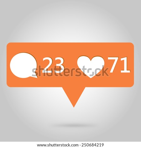 heart and comment button icon