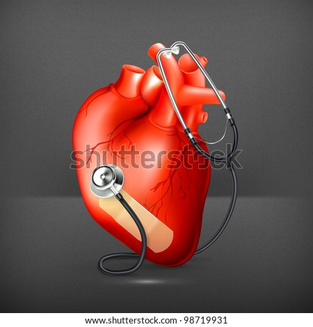 Heart and stethoscope, 10eps