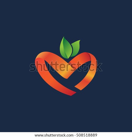 heart apple logo