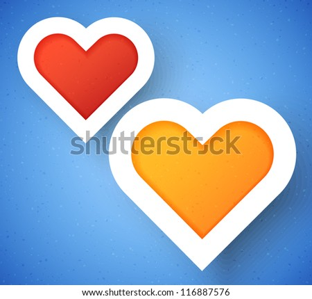 Heart applique background. Vector illustration for your design.