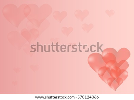 Heart background creative for valentine love theme in vector EPS10 #570124066