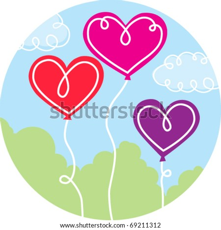 heart balloon trio #69211312