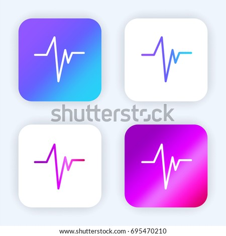 Heart beat bright purple and blue gradient app icon