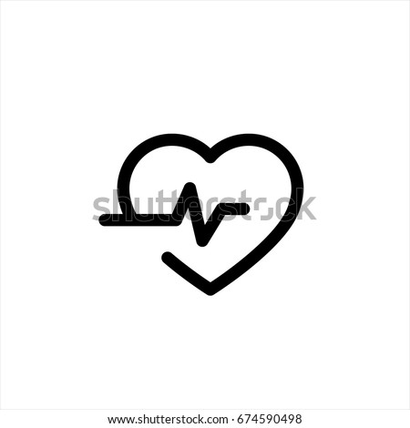 Heart beat icon in trendy flat style isolated on background. Heart beat icon page symbol for your web site design Heart beat icon logo, app, UI. Heart beat iconVector illustration, EPS10.