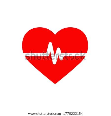 Heart beat icon,vector illustration. Flat design style. vector heart beat icon illustration isolated on White background, heart beat icon Eps10. heart beat icons graphic design vector symbols.