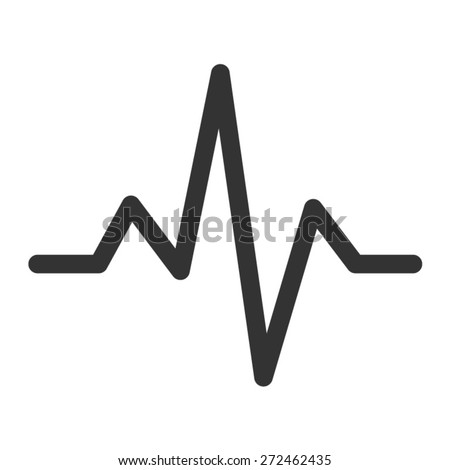 Heart beat monitor pulse line art icon for medical apps and websites