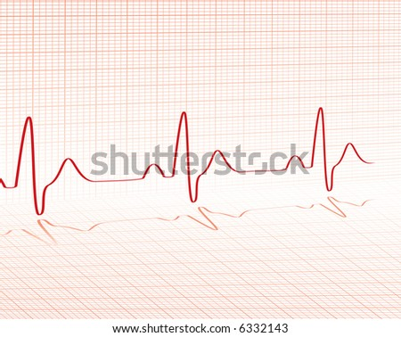 heart beat red grid layed over a background with room for your own text
