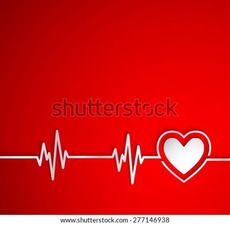 heart beat with heart shape