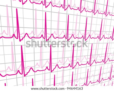 Heart beats cardiogram. EPS 8 vector file included