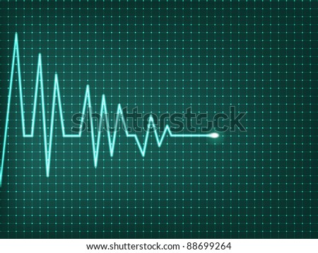 Heart beats cardiogram - vector illustration