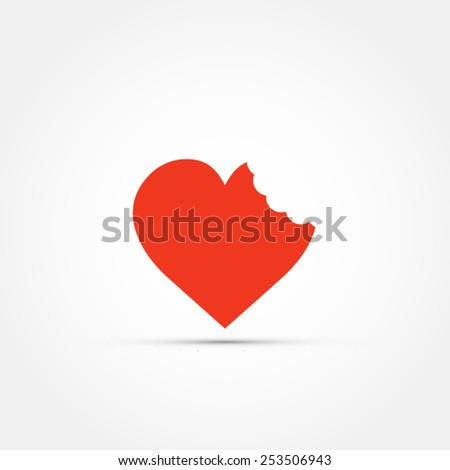 heart bite icon