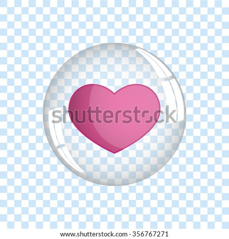 heart bubble icon vector