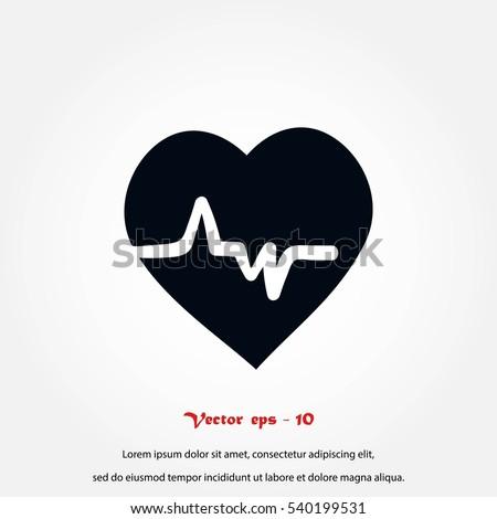 heart cardiology icon, Vector EPS 10 illustration style