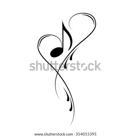 heart clef music notes