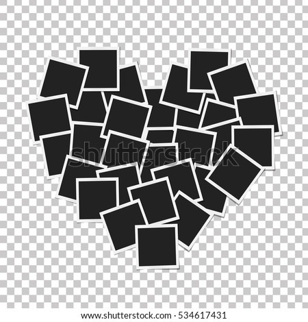 heart concept made with photo