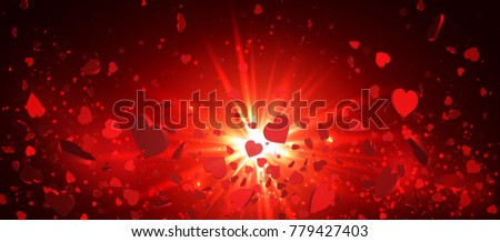 heart confetti of valentines