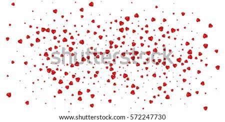 heart confetti of valentines