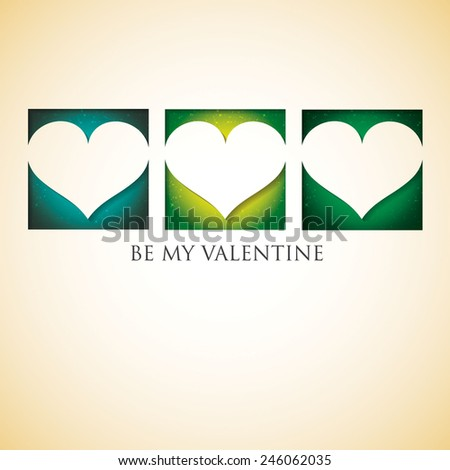 Heart cut out Valentine\'s Day card in vector format.