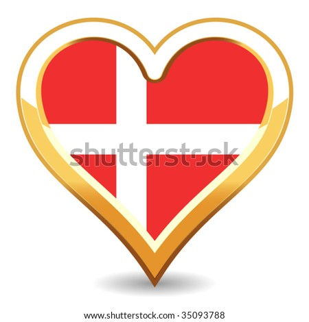 Heart Denmark Flag