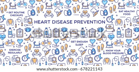 Heart Disease Prevention - Vector Illustration