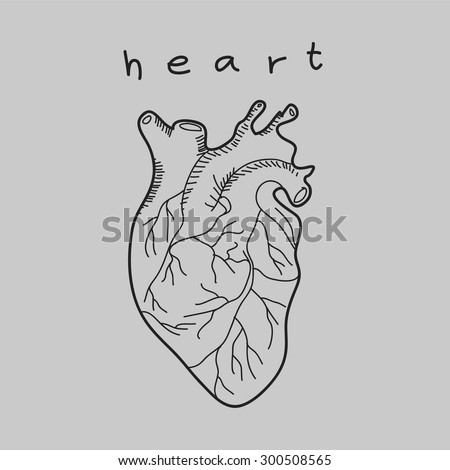 heart doodle hand drawn