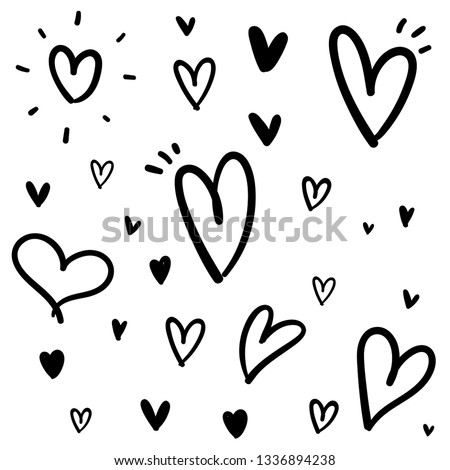 Heart doodle texture background pattern