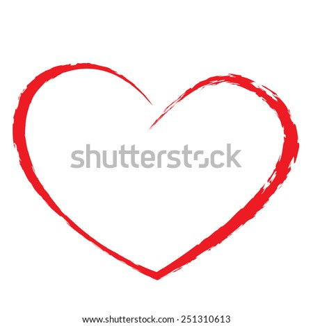 heart drawing love valentine