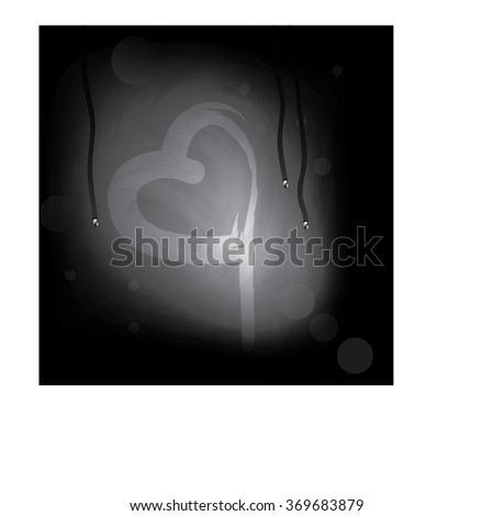 heart drawn on steamed glass