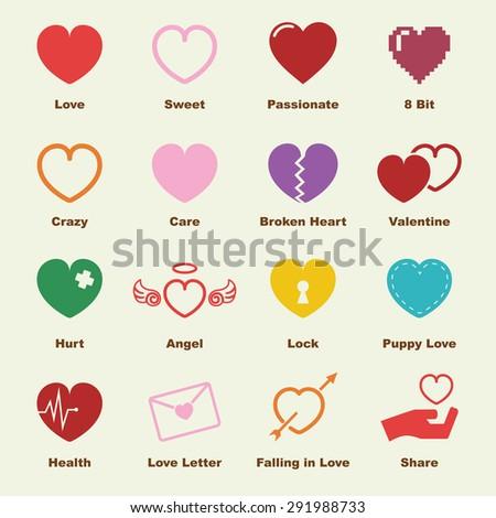 heart elements  vector