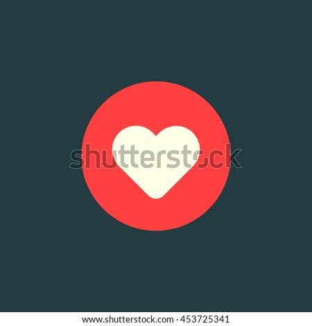 Heart emoji. like flat icon
