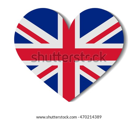 heart flag united kingdom