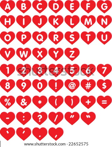 S Alphabet In Heart Heart Font - Le...