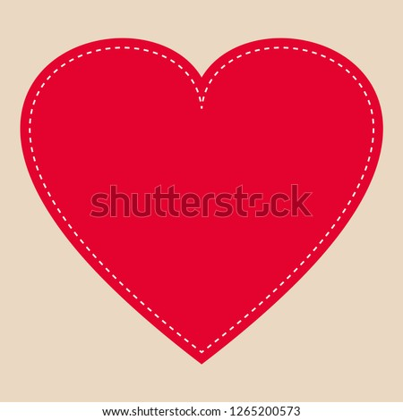 Heart frame icon vector. Love symbol. Valentine s Day emblem, flat style for graphic and web design, logo.