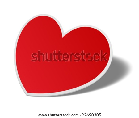 Heart from paper Valentines day vector illustration eps 10