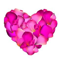 Heart from Rose Petals Vector Illustration EPS10