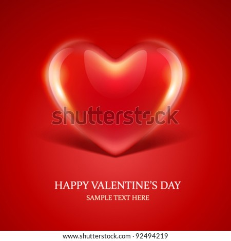 Heart gift present Valentine's day vector background eps 10