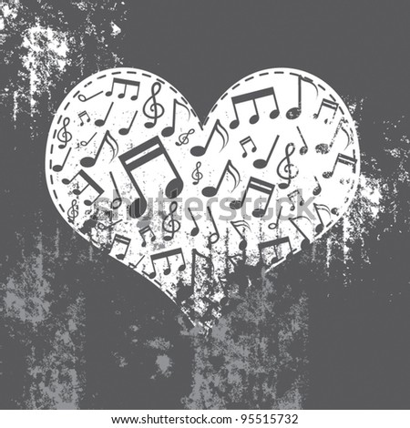 heart grunge music rock concept