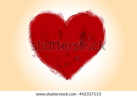 heart grunge paint Valentine's Day