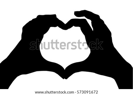 heart hand signal silhouette