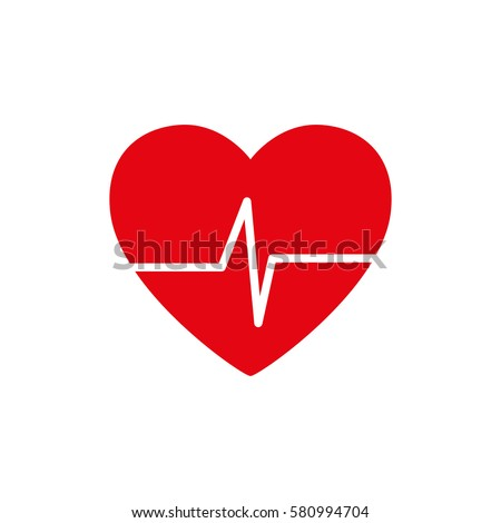 Heart healthy symbol icon vector illustration graphic design