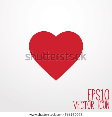 Heart Icon. Flat style for graphic and web design, Modern simple vector sign. Internet concept. Trendy symbol for website design web button, mobile app.