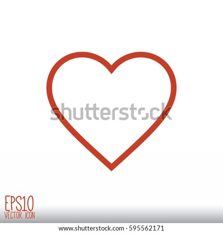 Heart Icon Flat Style For Graphic And Web Design Modern Simple