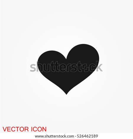 Heart icon, Heart icon vector, Heart icon image, Heart icon illustration