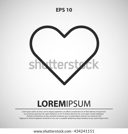 heart icon. heart line icon
