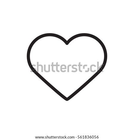 heart icon illustration isolated vector sign symbol