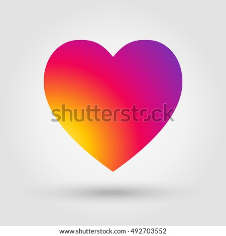 heart icon in style of